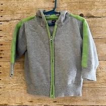 Baby Gap Gray and Green Hoodie Size 18-24 Months Photo