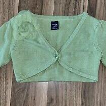 Baby Gap Green Cardigan Sweater  Flower  Size 12-18 Months Photo