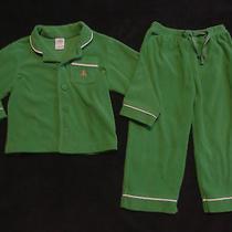 Baby Gap Green Fleece 2 Pc Fleece Pajamas Size 2 Yrs/2t Photo