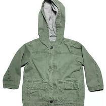 Baby Gap Green Khaki Gray Jersey Lined Hooded Full Front Zip Jacket 18-24mo Photo