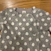 Baby Gap Grey and White Girls Coat 3-6 Months Photo