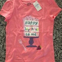 Baby Gap Happy Birthday Shirt Girl 5 5t New Nwt Pink Cake Playtime Favorites Photo