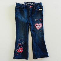 Baby Gap Heart Embroidered Boot Cut Jeans Girls 2t Nwt New Photo