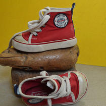 Baby Gap High Top Red Sneakers Infant Size 7 Adorable Photo