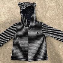 Baby Gap Hoodie Button Up 6-12 Months New Navy Blue Bear Ears Gap Photo