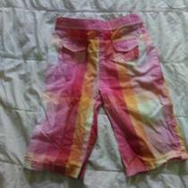 Baby Gap Hot Pink Plaid Chinos 6-12 Mos   Photo
