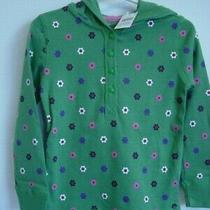 Baby Gap in Full Bloom Green Hooded Flower Top Girl Size 4 4t 4 Years Nwt Spring Photo