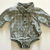 Baby Gap Infant Boy Plaid Button Up Jumper Top Size 0-3 Months Photo