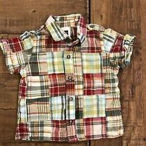 Baby Gap Infant Boy Plaid Button Up Shirt Size 612 Months Photo