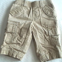 Baby Gap Infant Boy's Kaiki Pin Stripe Cargo Style Lined Pants 3-6 Months Photo