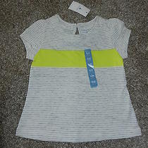 Baby Gap Infant Girl Short Sleeve Tshirt 18-24 Months Yellow and Gray Stripes Photo