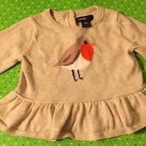 Baby Gap Intarsa Bird Ruffle Sweater 6-12 Months Euc Photo