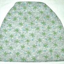 Baby Gap Jersey Knit Cotton Hat 3-6 Months Gray Green  Star Print Beanie Euc Photo