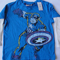Baby Gap Junk Food Captain America Long Sleeve T-Shirt - Size 2 Years - Nwt Photo