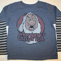 Baby Gap Junk Food - Grumpy T Shirt- Striped Sleeves 5 Euc Photo