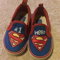 Baby Gap Junk Food Limited Edition Superman Slip-on Shoes Boy Size 5 Toddler Photo