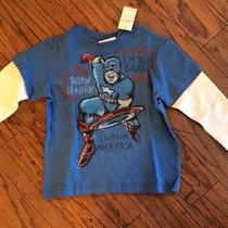 Baby Gap Junk Food Long Sleeve Tee Captain America Size 2t New With Tags Photo