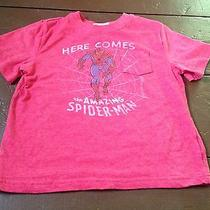 Baby Gap Junk Food Spiderman Here Comes There Goes T-Shirt Red Top 5t 5 Years Photo