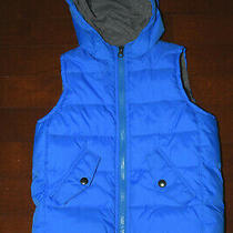 Baby Gap Kids Boys Bright Blue Hooded Puffer Vest Pocket Zip  Size 5 48 Photo