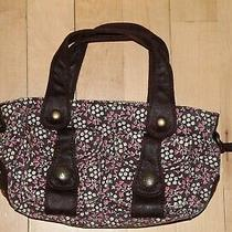 Baby Gap Kids Girl's Purse Handbag Tote Brown Pink Flowers Photo