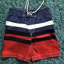 Baby Gap Kids Toddler Boy Swim Trunks Size 4 Years - Blue/red/white/stripes Photo