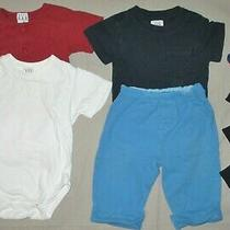Baby Gap Knit Clothing Lot 3-6 6-12 Months Bodysuit One Pc Pants Blue Red White Photo