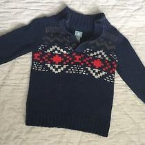 Baby Gap Knot Cable Sweater Pullover Toddler Boy 18-24 M Blue Red White  Photo