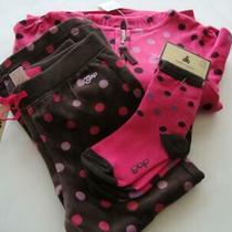 Baby Gap Ladybug Love Pink Brown Dot Velour Hoodie Pants & Socks Girl Size 4 5 Photo