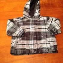 Baby Gap Lightweight Toddler Boys Blue Plaid Hooded Jacket Size 3 Photo