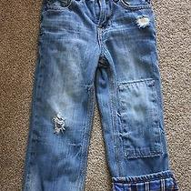 Baby Gap Lined Boys Jeans Size 3 Toddler 1969 Original Fit Distressed Babygap  Photo
