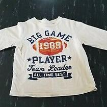 Baby Gap Long Sleeve Cream Off White Football Size 4 Years  Photo