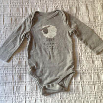 Baby Gap Long Sleeve One-Piece Unisex Girl Boy Size 6-12 Months Grey Photo