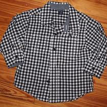 Baby Gap Long Sleeve Short Checkers White Nd Black Size 18-24 Months Baby Boy Photo