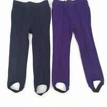 Baby Gap Lot of 2 Girls Stirrup Pants 4yrs Navy & Purple Photo