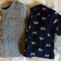 Baby Gap Lot of 2 One Piece Pajamas Sleeper and Romper 6-12 Months  Photo