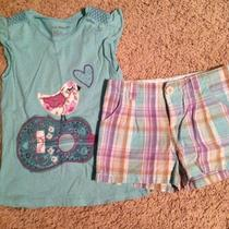 Baby Gap Mojave Southwest Madras Plaid Shorts Bird Guitar Shirt Set Sz 5t Photo