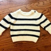 Baby Gap Navy and Cream Striped Sweater Size 6-12 Months Photo