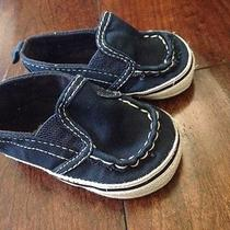 Baby Gap Navy Baby Boy Shoes 3-6 Months Photo