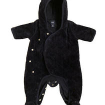 Baby Gap Navy Footed Quilted Snowsuit With Hood 0-3 Months - Euc Photo