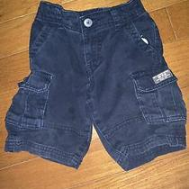 Baby Gap Navy Knit Cargo Shorts Size 3t Toddler Photo