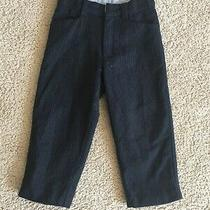 Baby Gap Navy Pinstripe Wool Lined Adj Waist Dress Pants - Adorable - Sz 3 Photo