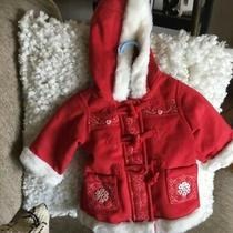 Baby Gap New  Tags Red 0-6 mths.soft Fleece Like Polyester Blend Hooded Jacket Photo