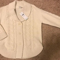 Baby Gap New With Tags Girls Cream Cardigan Sweater Size 4 Photo