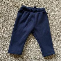 Baby Gap Newborn Boys or Girls Navy Fleece Lined Pants Great Used Condition Photo