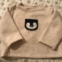 Baby Gap Oatmeal Penguin Fleece Sweater 3-6 Months Photo