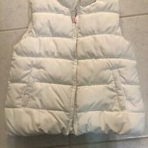Baby Gap Offwhite Puffer Vest Girl 4 Toddler Photo