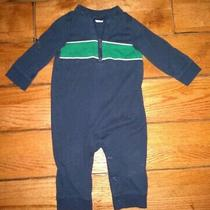 Baby Gap One Piece Romper Outfit Boys Size 6 - 12 Months Navy Green Pajamas Photo