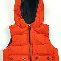 Baby Gap Orange Puffer Vest W/ Hood Sleeveless  18-24 Months Photo