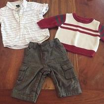 Baby Gap Outfit Boys Pants Top Sweater Baby Gap Great Lot S264 Photo