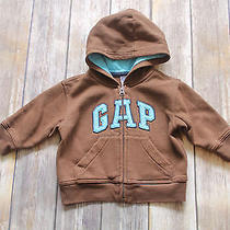 Baby Gap Outlet 12 18 Mo Brown Blue Logo Hoodie Jacket Afp Photo